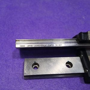 NSK LE090140ULK1J04P51 LM Guide Linear Bearing 1Rail 1Block Lot of 2, USED