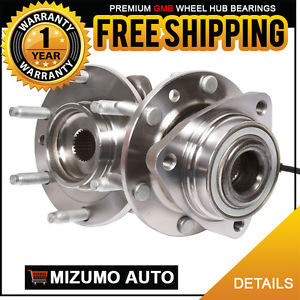 2 New Front Left and Right Wheel Hub Bearing Assembly Pair w/ ABS GMB 725-0086