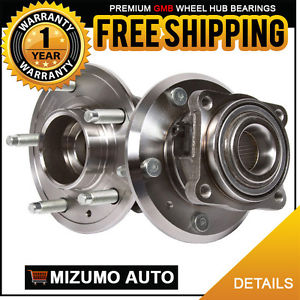 2 New Rear Left and Right Wheel Hub Bearing Assembly Pair w/ ABS GMB 730-0385