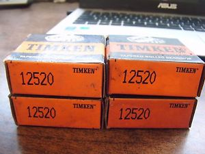 NEW TIMKEN LOT OF 4 TAPERED ROLLER BEARING CUP 12520