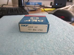 SKF Model: 6204-2Z/C3 QE6 HT51 Deap Groove Bearing. New Old Stock