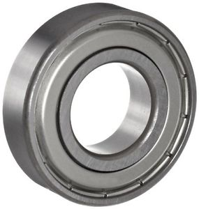 NSK R6Z Small Size Ball Bearing, Single Row, Single Shield, Pressed Steel Cage,