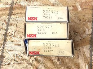 3-NSK ,Bearings, Cat#5205ZZ ,comes w/30day warranty, free shipping