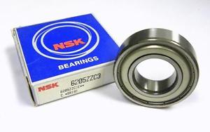 NEW NSK 6205ZZC3 SHIELDED BALL BEARING 25 MM X 52 MM X 15 MM (3 AVAILABLE)