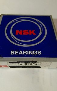 NSK 6208DDUC3 Single Row Ball Bearing 40MM X 80MM X 18MM 2 Seals