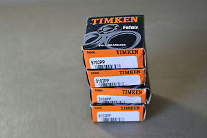 Timken Fafnir 9102PP Ball Bearings Set of 4