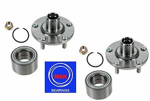 Front Wheel Hub & (OEM) NSK Bearing Kit Fit NISSAN MAXIMA 2000-2008 (PAIR)