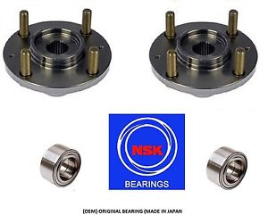 2004-2006 SCION XB Front Wheel Hub & (OEM) (NSK) Bearing Kit (PAIR)
