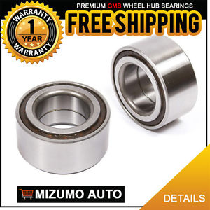 2 New Front Left and Right Wheel Hub Ball Bearing Pair GMB 750-0286
