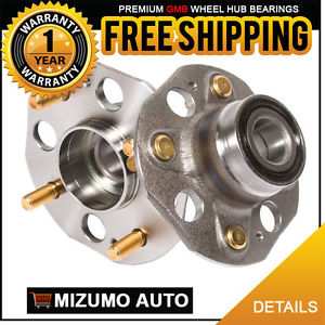 2 New Rear Left and Right Wheel Hub Bearing Assembly Pair w/o ABS GMB 735-0214
