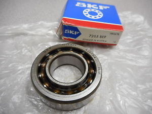 SKF 7205 BEP RADIAL BALL BEARING,ANGULAR,1 ROW 0.59IN WIDE 2.05IN OD 25MM BORE D