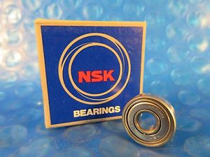 NSK 606ZZ, 606 ZZ Single Row Radial Bearing; 6 mm ID x 17 mm OD x 6 mm Wide