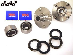Front Wheel Hub & NSK Bearing Assembly Left and Right Set Fits ALTIMA 1993-1997