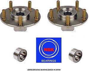 1996-1998 Acura TL 3.2 V6 Front Wheel Hub & (OEM) NSK Bearing Kit Assembly(PAIR)