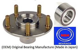 Front Wheel Hub & (OEM) NSK Bearing Kit For HYUNDAI SANTA FE 2001-2006