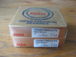 1 Pair 7009CTRDULP3. NSK Super Precision Bearings