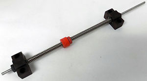 """NSK WBK06-01A SUPPORT UNIT BEARING BLOCK LINEAR BALL SCREW 7 7/16"""" OF TRAVEL"""