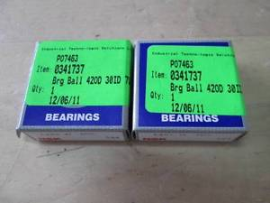 lot of 2 NSK 0341737 420D30ID Ball Bearing