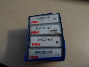 LOT OF 4 NSK Bearings 6004ZZCM/ NS7S Ball Bearing NIB!
