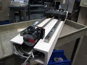 """NSK Lead Screw Postitioner w/ Linear Bearing Support 30"""" Length 24"""" Travel"""