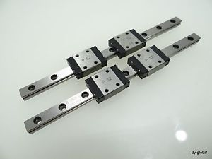 LM Guide IKO Used LWL7B+134mm 2Rail 4Block THK RSR7 NSK LU07 Miniature Bearing