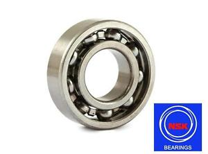 6302 15x42x13mm Open Unshielded NSK Radial Deep Groove Ball Bearing