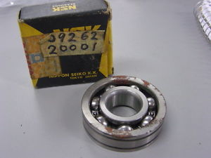 NOS NSK Suzuki Crankshaft Bearing T200 TC200 09262-20001