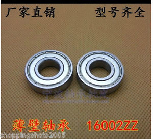 100 pcs 16002-2Z Deep Groove Ball Bearing 15x32x8 15*32*8 mm bearings 16002ZZ ZZ