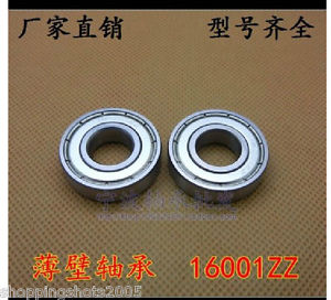 100 pcs 16001-2Z Deep Groove Ball Bearing 12x28x7 12*28*7 mm bearings 16001ZZ ZZ