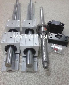 2 SBR16-400mm linear rail +1 ballscrew RM1605-450mm+1 BK/BF12 end+couping sets