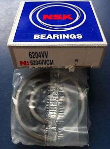 NSK 6204VV Ball Bearing New 47mm x 20mm x 14mm Deep Groove