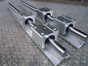2 x SBR16-450mm 16MM FULLY SUPPORTED LINEAR RAIL SHAFT + 4 SBR16UU Block