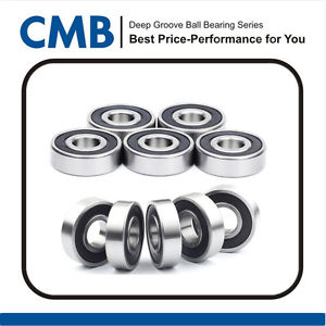 10PCS 6202-10-2RS ( 6202-5/8 2RS ) Rubber Sealed Ball Bearing 15.875x35x11 mm