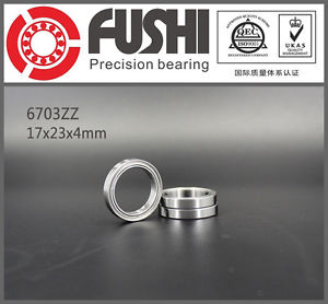 6703ZZ (10PCS) 17x23x4mm Thin Section Ball Bearings 61703ZZ FUSHI