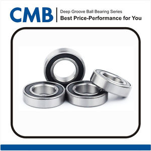 """4pcs R8-2rs C3 Deep Groove Rubber Sealed Ball Bearing 1/2"""" x 1-1/8"""" x 5/16"""" New"""