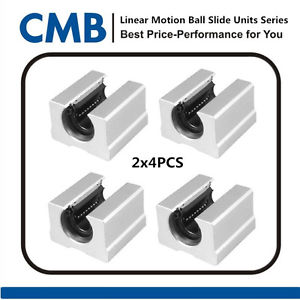 8PCS SBR12UU 12mm Open Linear Bearing Slide Linear Motion Tested Before Shipping