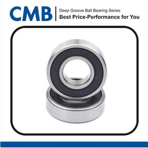 2PCS 628-2RS Rubber Sealed Ball Bearing Miniature Bearing 628 2rs 8x24x8mm