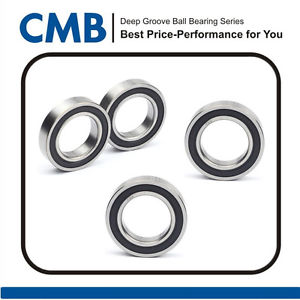 4pcs 6901-2RS Rubber Sealed Ball Bearing 12 x 24 x 6mm Deep Groove Ball Bearing