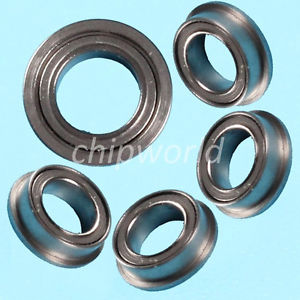 5PCS MF85zz Mini Metal Double Shielded Flanged Ball Bearings 5*8*2.5mm
