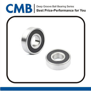 2PCS 6002-2RS C3  Double Rubber Sealed Ball Bearing 15mm x 32mm x 9mm