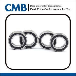 5PCS 6801-2RS Deep Groove Rubber Sealed Ball Bearing 12x21x5 mm