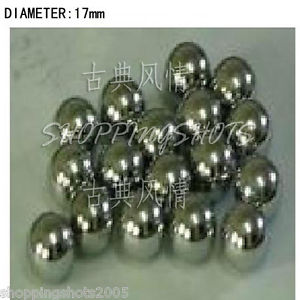 20 pcs Dia/Diameter 17 mm bearing balls Carbon steel bearings ball in stock