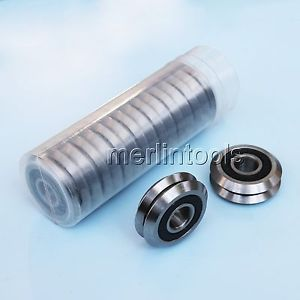 """RM2-2RS 3/8"""" V Guide Way CNC Sealed V W Groove Ball Bearing 9.525×30.73×11.1mm"""