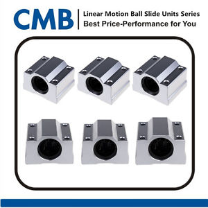 6pcs SC12UU SCS12UU Linear Ball Bearing Motion Bearing Sliding Block Brand New