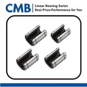 4pcs LM12UUOP Open Linear Ball Bearing Bushing 12x21x30 mm Linear Motion Bearing