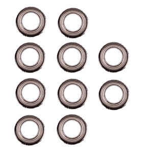 10PCS (6mm*10mm*3mm) MF106zz Mini Metal Double Shielded Flanged Ball Bearings