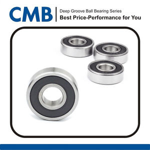 4PCS 6003-2RS C3 Double Rubber Sealed Ball Bearing 17 x 35 x 10mm Brand New