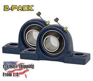 2 PIECES 1 inch Pillow Block Bearing UCP205-16, Solid Base,Self-Alignment