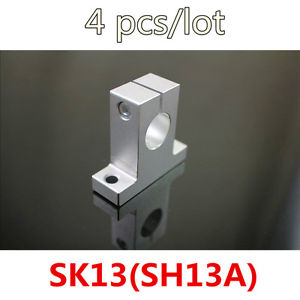4 pcs/lot SH13A/SK13 For 13 Rod Holder Metal Linear Rail Shaft Support For CNC