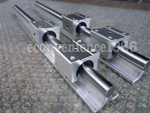 2X SBR25–600 mm LINEAR RAIL SHAFT ROD+4 Pcs SBR25UU Block Bearing